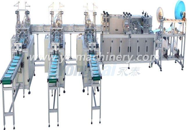 Máquina de fabricación de máscaras de alta velocidad (1 + 3)